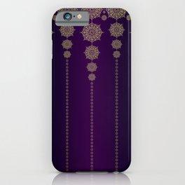 Violet & Gold Mandala Medallions iPhone Case