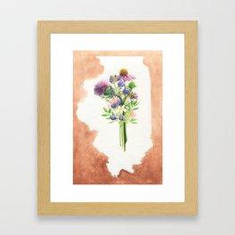 Illinois Wildflowers Framed Art Print