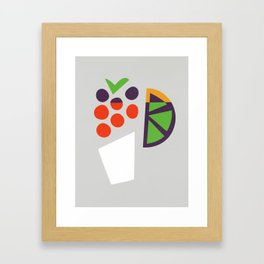 Berry Cocktail Framed Art Print