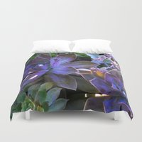 secret life Duvet Covers featuring The Secret Life of Plants by Slow Toast