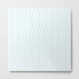 Bracket Blue Metal Print