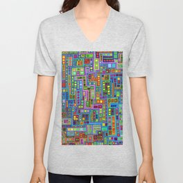 Tiled City Unisex V-Neck