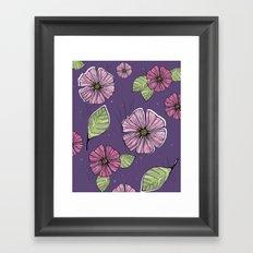 aloha floral print Framed Art Print