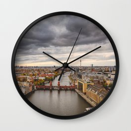 Berlin Oberbaumbrücke Wall Clock