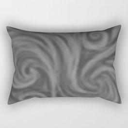 Dark Gray Swirl Rectangular Pillow