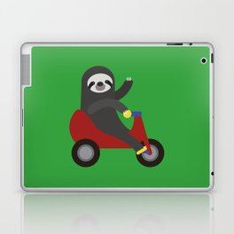 Sloth on Tricycle Laptop & iPad Skin