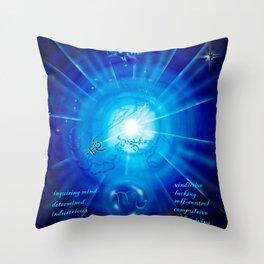 Zodiac sign Skorpio 3 Throw Pillow