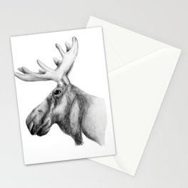 Moose Art Stationery Cards