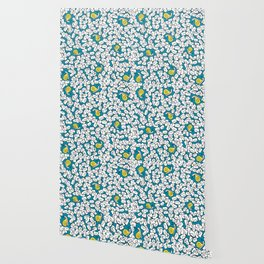 Snail Mail Turquoise Wallpaper