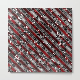Red Striped Multicam Camo Pattern Camouflage Metal Print