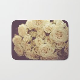 White Roses Bath Mat