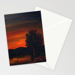 Fireflies at the Pond Stationery Cards