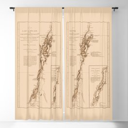1770s Maps: Lakes Champlain and George (adapted) Blackout Curtain