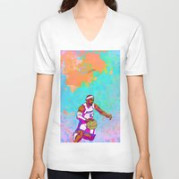 lebron V-neck T-shirts featuring LeBron James by Maddison Bond