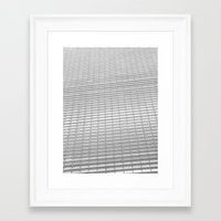 gray pattern Framed Art Prints featuring Gray Pattern by theGalary