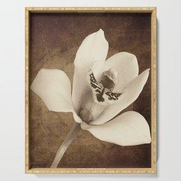 Vintage Flowers Digital Collage 12 Serving Tray