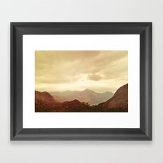 mountains (01) Framed Art Print