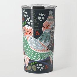 Holiday Birds Love Travel Mug