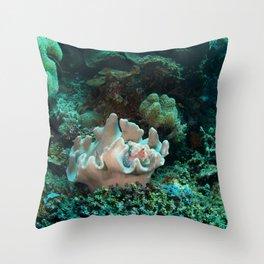 Light pink scorpionfish Throw Pillow