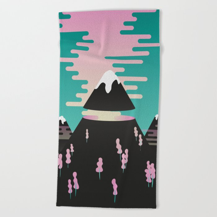 Enchanted mountains Beach Towel