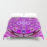 carousel Duvet Covers featuring Carousel by Elena Indolfi