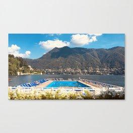 Villa d'Este pool Lake Como Canvas Print