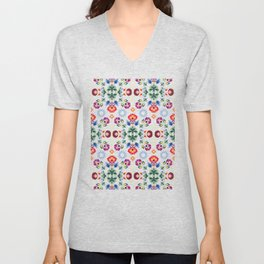 Fiesta Folk Black #society6 #folk Unisex V-Neck