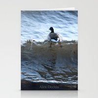 ducks Stationery Cards featuring Ducks by Alex Dodds
