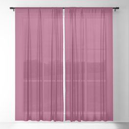SANGRIA Red Wine solid color Sheer Curtain