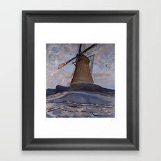 Piet Mondrian - Windmill, 1917 Framed Art Print