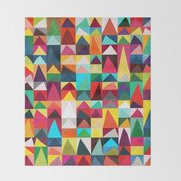 Abstract Geometric Mountains Throw Blanket