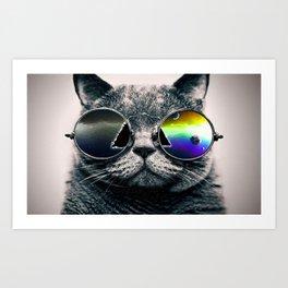 CAT--SUNGLASSES Art Print