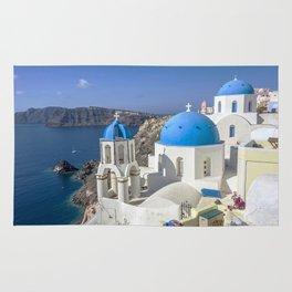Santorini, Oia Village, Greece Rug