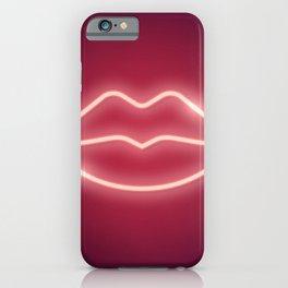 Neon Lips iPhone Case