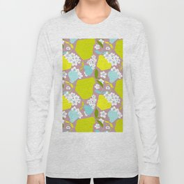 Pears + Pear Blossoms Long Sleeve T-shirt