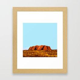 uluru polygon Framed Art Print