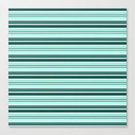 Mint Sampler Stipe 2 Canvas Print