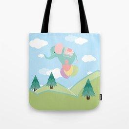 Elephant and Balloons, nursery decor , Tote Bag