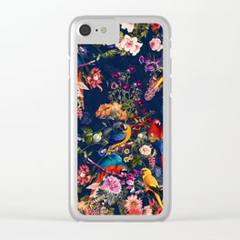 FLORAL AND BIRDS XII Clear iPhone Case