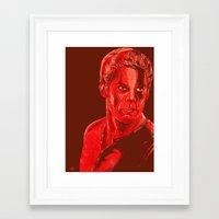 dexter Framed Art Prints featuring Dexter by Giuseppe Cristiano