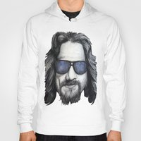 lebowski Hoodies featuring The Dude Lebowski by Black Neon