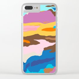 Shape and Layers no.19 - Abstract Modern Landscape Clear iPhone Case