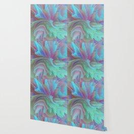 Aurora Blaze - Abstract Art by Fluid Nature Wallpaper