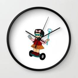 """Cute and unique girl in a board. Grab this fabulous """"Sluggo Is Lit"""" tee design. Awesome gift too!  Wall Clock"""