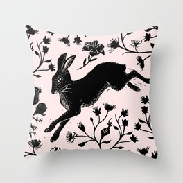 Hare & Vines Throw Pillow