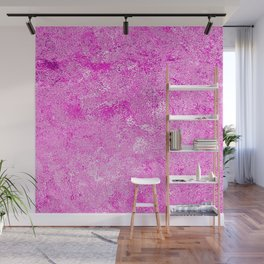 Neon Fuchsia Hot Pink Metallic Foil Wall Mural
