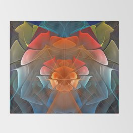 Colourful unfolding fantasy abstract Throw Blanket