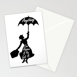 Anything Can Happen If You Let It - Mary Poppins Quote Stationery Cards