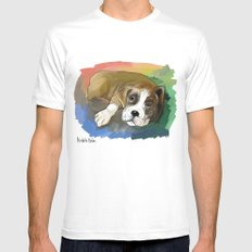 Boxer Mens Fitted Tee White MEDIUM