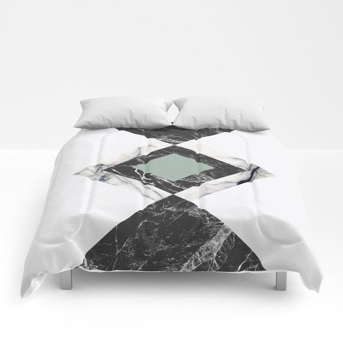 Green Marble Comforters